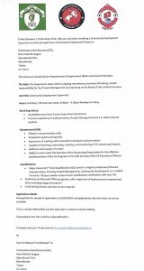 Community Employment Supervisor Recruitment
