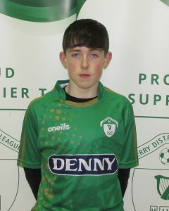 Name: Daire O'Shea  Previous Club: Kerry Fc  Squad Number: 19